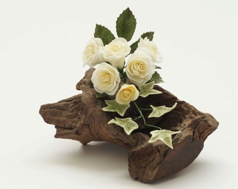Large Rose Sugar Flower Bouquet Cake Topper for Weddings and Other Special Occasions