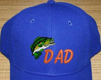 Dad's Birthday/Dad's Personalized Monogrammed Cap/Fish Cap/Golf Cap/Dad's Cap/Cap for Him/Cap/Birthday/Father's Day/Christmas Gift for Him