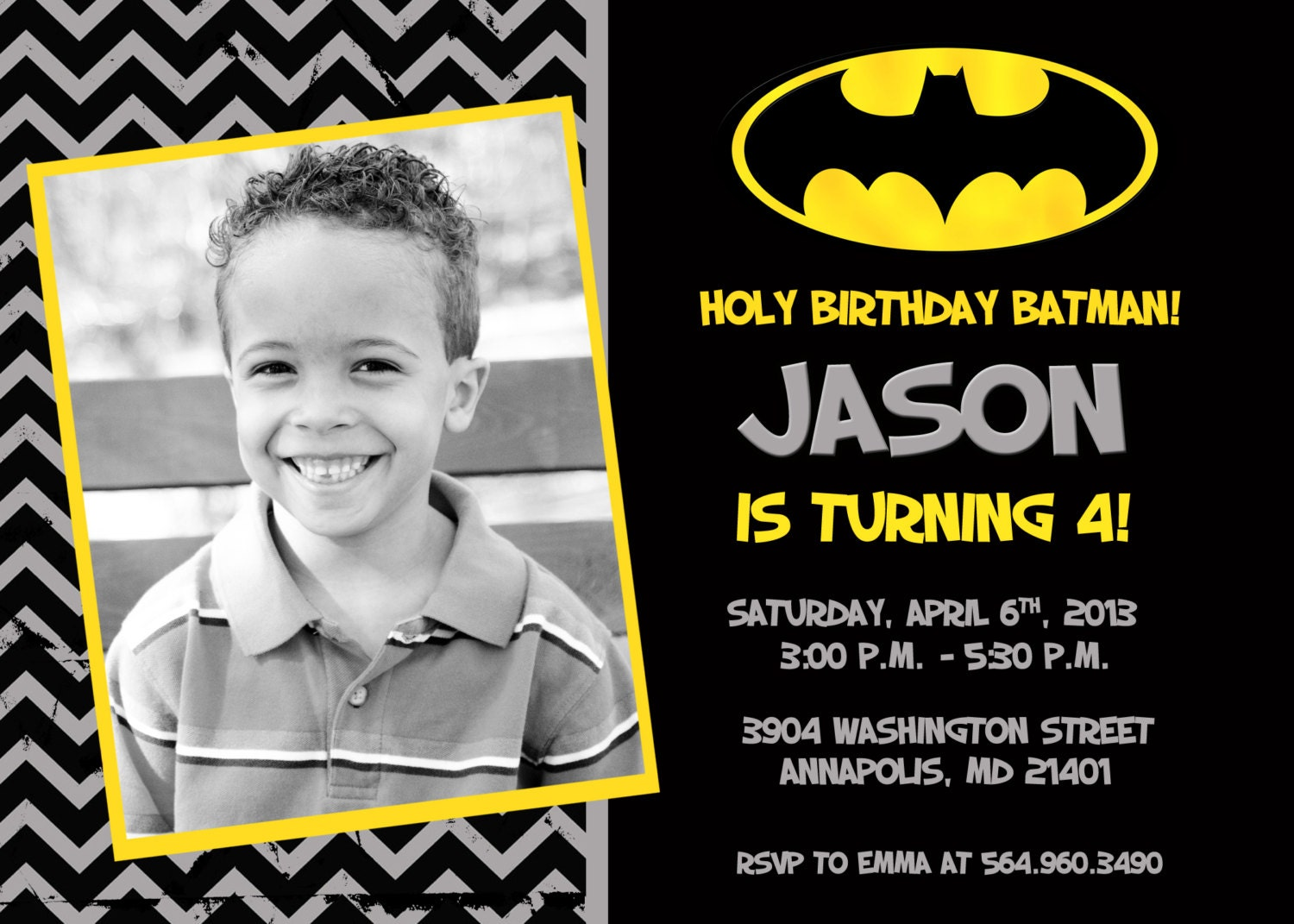 Batman Party Invitations can inspire you to create best invitation template