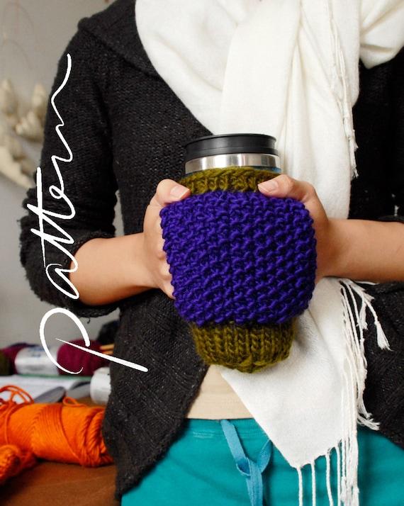 PATTERN - Mug Cozy - Digital Download - PDF - Knitting Pattern - Hand Warmer Tea or Coffee Mug Cozy - Mug Cozie