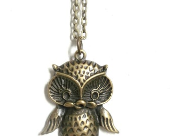 Proverbs 19:8 Necklace - featuring beautiful antiqued brass owl pendant - READY to SHIP
