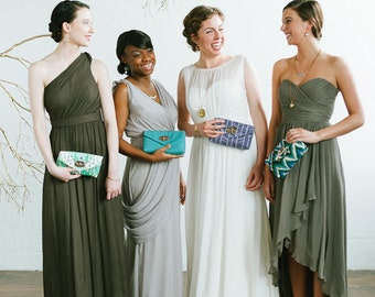 Handmade custom wedding envelope clutches bridal party gifts