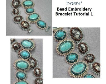 Bead Embroidery Bracelet / Cuff Tutorial Ebook