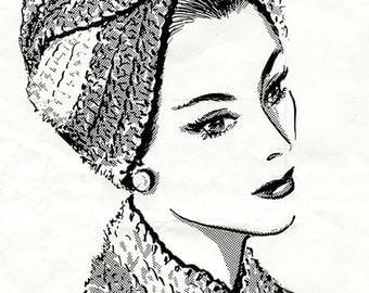 Crochet Vintage Turban Pattern