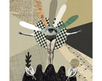 Totem / Fine Art Print / Poster / Collage / A4