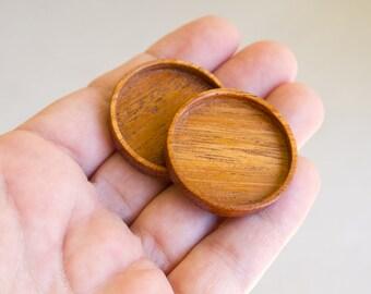 Artisan quality finished hardwood bezel trays - Mahogany - 30 mm cavity - (Z30-M) - Set of 2