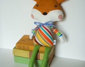 Dapper Fox Plush Toy Soft Doll Stuffed Animal for Baby and Children