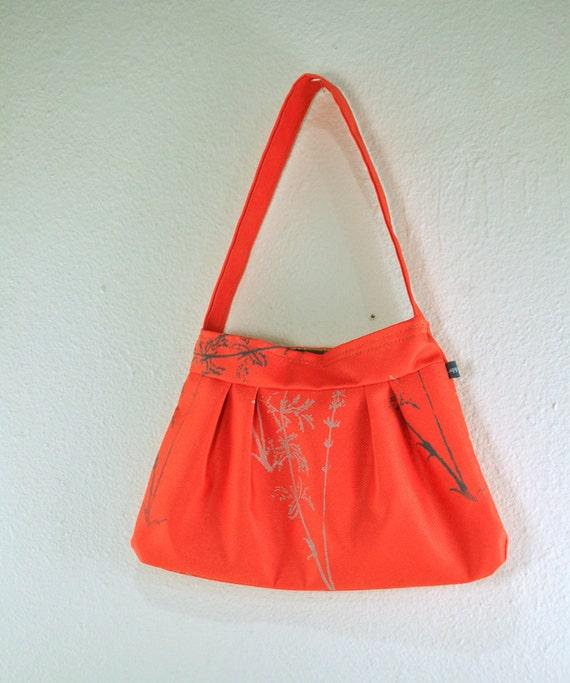 Sale-Water resistant Coral Natalie Bag with Laminaria Print