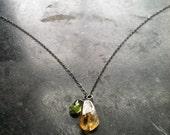 Amulet // Citrine & Peridot