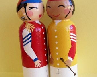 Hand Painted Love Boxes Racing Silks Jockey Kentucky Derby Preakness Belmont Peg Dolls Wood