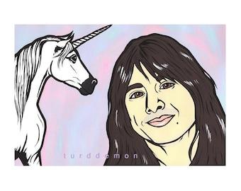 Steve Perry and Unicorn Print