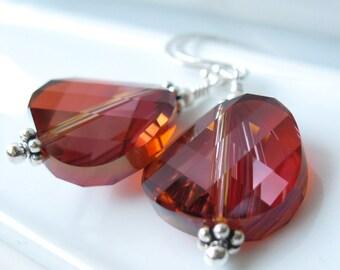 Hot Blooded Earrings Sterling silver swarovski crystal