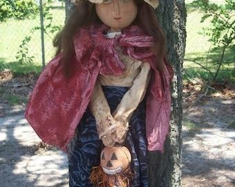 Primitive Halloween Cassie Witch