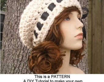 Instant Download Crochet Pattern - Crochet Beret Pattern - Crochet Hat Pattern Escargot Beret Hat - Womens Hat Pattern - Womens Accessories