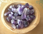 Amethyst Crystal Points Pendants Drilled lot of 6 NATURAL ELEMENTS
