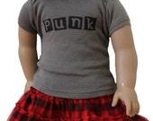 "Matching Punk T-shirt for 18"" doll"
