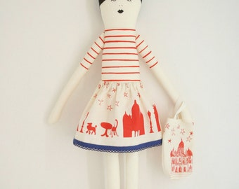 I love Paris doll red diy kit