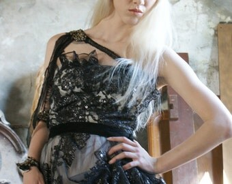 MODEL SAMPLE Mother of Dragons Khaleesi Daenerys Targarian Vibes Dress by Boudoir Queen New Spring 2013 Game of Thrones