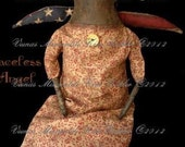 Primitive Doll Pattern Angel PDF E Patterns E-Pattern Americana Faceless Ragg Raggedy Cloth Sewing OFG Team