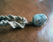 Natural Hemp with Howlite Pendant