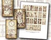 Miniature Dollhouse Tarot Card digital collage sheet for BJD Blythe and more printable props