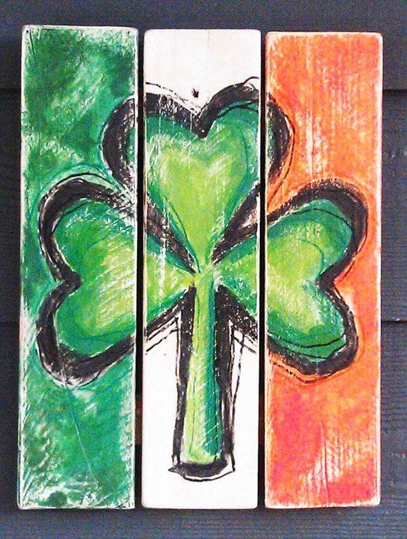 Shamrock Irish Flag St. Patrick's Day by HotShotPalletworks