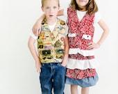 Casual Reversible Vest Sewing Pattern PDF epattern. Boy, Girl, Baby Sizes Newborn-12