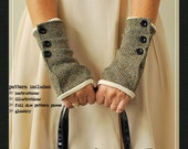 Dalliance Gloves sewing e-pattern  fingerless gloves sewing pdf pattern