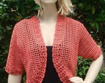 Short Sleeve Bolero - PDF Crochet Pattern