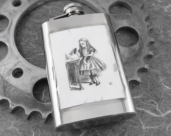 Alice in Wonderland Poison Drinking Hip Flask 4oz - Alice's Elixir by COGnitive Creations