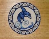 Celtic Dolphin Iron-On Patch