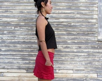 Organic Perfect Pockets Mini Skirt (light hemp/organic cotton knit)