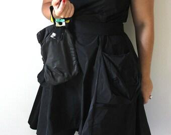 80's Inspired Black and Yellow Bracelet Handbag