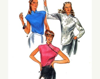 Cheongsam blouse top sewing pattern Butterick 6863 size 10 Uncut