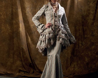 McCalls 6770-Steampunk Corset Jacket,Bustle,Mermaid Skirt,Pantaloons Size 4-10