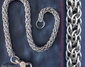 Wallet Chain - Spirally Goodness aka Candy Cane Cord - Stainless Steel