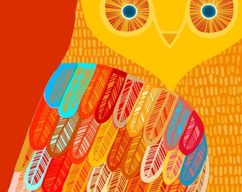 Owl print large