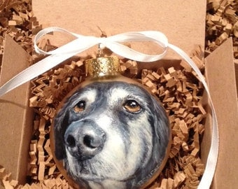 Your Pet Hand Painted On A Christmas Ornament Total Teensy Masterpiece by RSalcedoFree US Shipping
