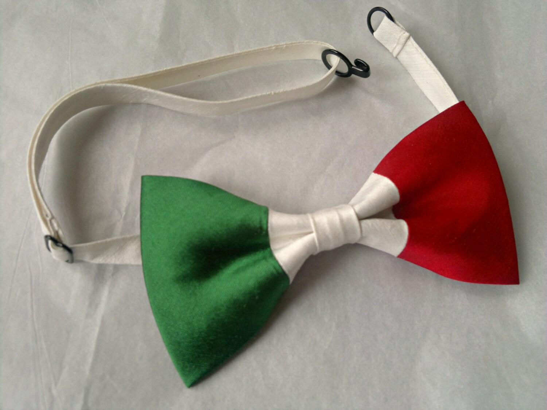 Italian Flag: Italy Italian Flag Dupioni Silk Bow Tie