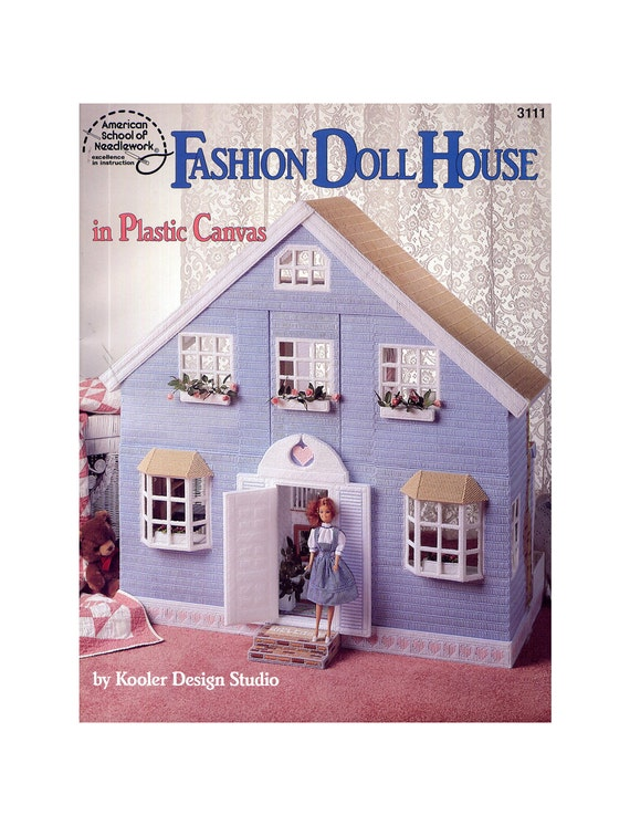Fashion Doll House Plastic Canvas Pattern - ASN 3111 - Kooler Design Studio
