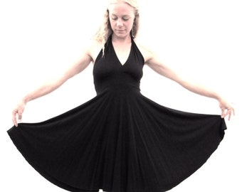 Poppy ~ Halter Dress ~ Bamboo & Organic Cotton ~ Made to Order