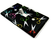 Rainbow Scissors Light Switch Cover Sewing Decor Craft Room Decoration Switchplate Cover Lightswitch Plate