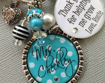 "Shop ""teacher gifts personalized"" in Jewelry"