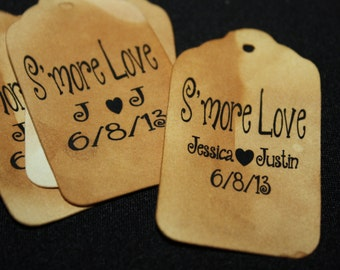Smore Love 100 Favor Tags