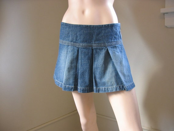 Denim Mini Skirt Vintage 90s XOXO Free Shipping