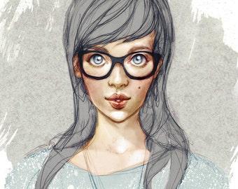 Hipsters - Art Print 8 x 11