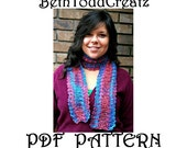 INSTANT Download Radiance Scarf Crochet DIY PDF with crochet symbols chart for hand painted yarn by BethToddCreatz Patterns on Etsy