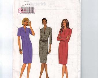 Misses Sewing Pattern Butterick 3671 Misses Easy Dress Size 6 8 10 Bust 30 31 32 33 UNCUT