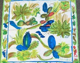 Carlos Falchi Scarf / Silk Scarf / Vintage Designer Silk Scarf