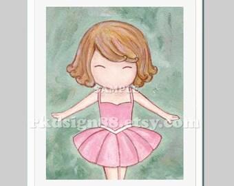 Ballerina girl art baby nursery art for children decor whimsical ballet tutu ballerina decor Let's dance blonde